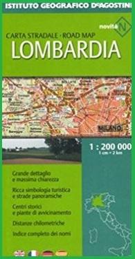 Carta stradale mappa lombardia multilingue