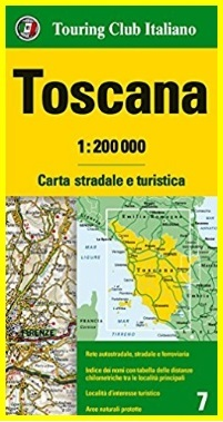 Mappa della toscana carta stradale e turistica