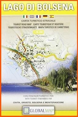 Carta turistica del lago di bolsena in scala