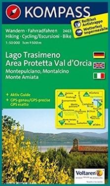 Carta escursionistica della città di montalcino