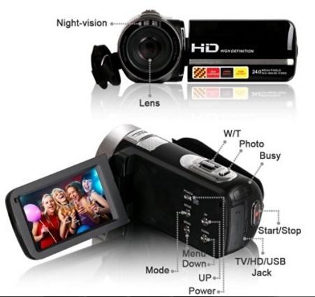 Videocamera besteker economica e potente