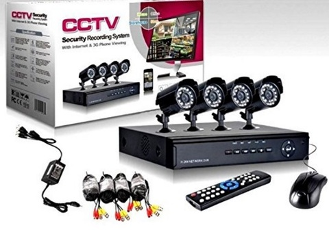 Kit telecamere per videosorveglianza 24 su 24 ore