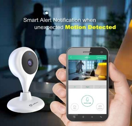 Telecamera Con Wifi 360° Utilizzabile Con Smartphone