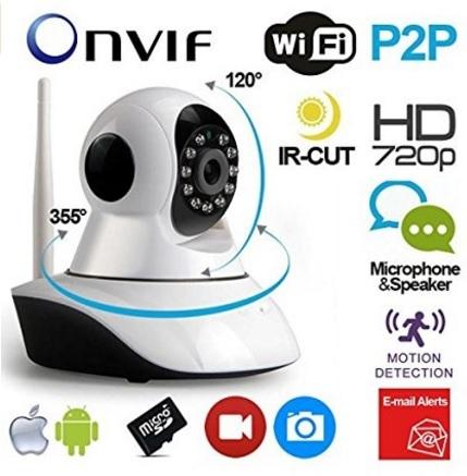 Telecamera Con Wi Fi Senza Fili Con Visore Notturno