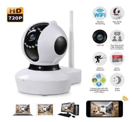 Telecamera Moderna Wifi Con Infrarossi Visione Notturna