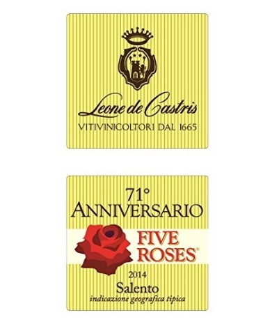 Vino five roses da 750 ml del 2015