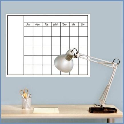Calendario mensile con spazio per scrivere