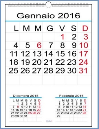 Calendari da muro grandi