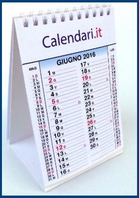 Calendario Agenda Da Scrivania