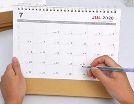 Calendario mensile 2019 2020