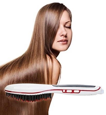 Spazzola piastra elettrica per capelli lisci