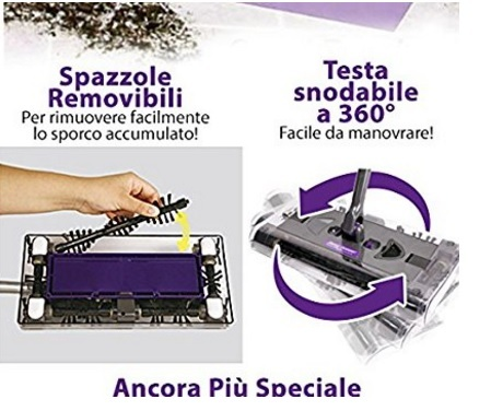 Oggettistica sweeper max scopa rotante