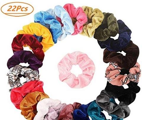 Elastici capelli colorati tessuto