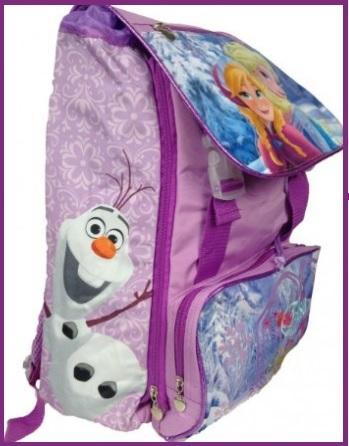 Zaino scuola frozen estensibile per bambine