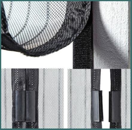 Zanzariera magnetica porta tenda nera