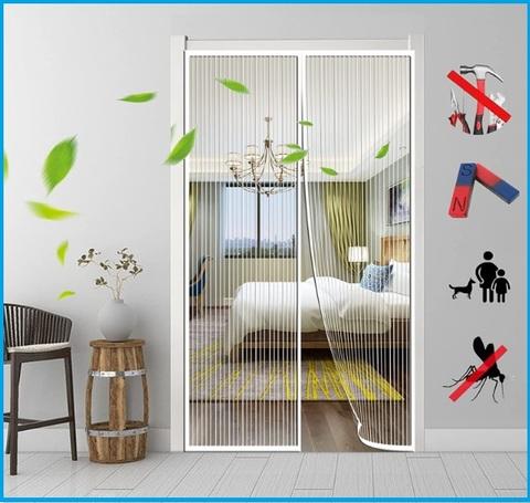 Zanzariera per finestre magnetica con chiusura in velcro